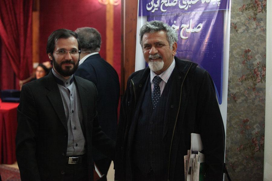 مهندس حسینی و پروفسور امین حقوقدان برجسته ایران سال 1394