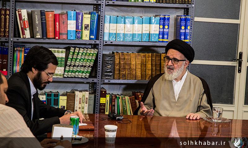 مهندس حسینی دیدار با حضرت آیت الله خسروشاهی